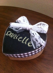 Chalkboard gift box - so cute and easy to make!